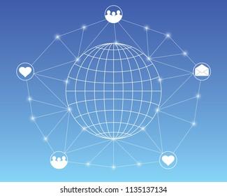 Social community network vector, eps 10.