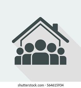 Social community - Vector web icon