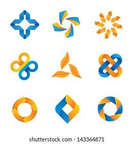 Social cool loop logo symbols and icons