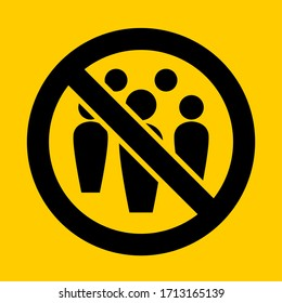 Social Distancing Avoid Crowds Icon. Vector Image.