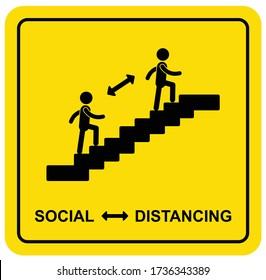 Treppe für das Sozialzeichen