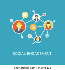 Social Engagement Vector Icon
