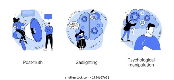 Social engineering abstract concept vector illustrations.