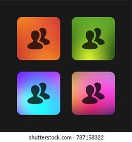 Social group four color gradient app icon design