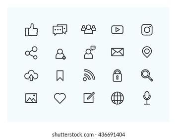 social icon set vector.
