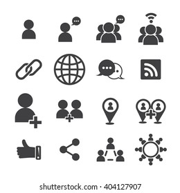 social icon, vector icon
