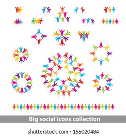 social icons collection - vector concept