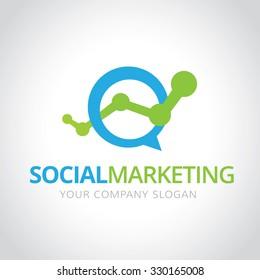Social marketing logo,marketing logo, Vector Logo Template