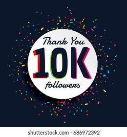 social media 10000 followers success with confetti