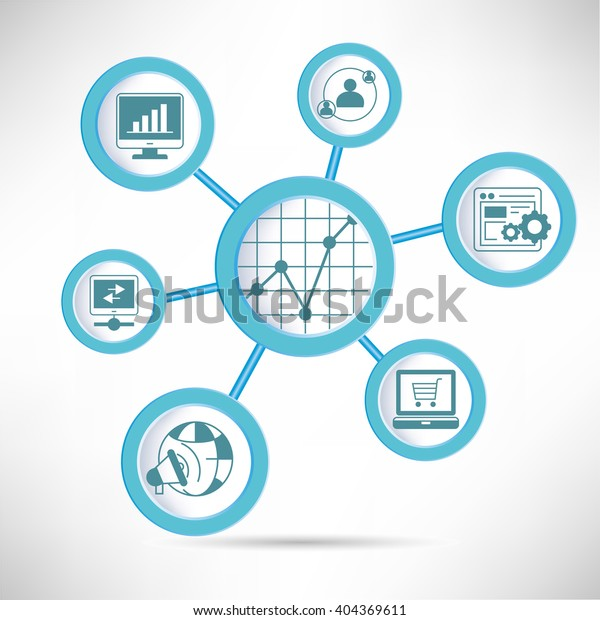 Social Media Analytics Infographic Stock Vector (Royalty