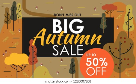 Social media autumn sale banners, ads web templates. Vector illustrations of season online shopping website mobile website banners, posters, email and newsletter designs, coupons. Autumn, black friday