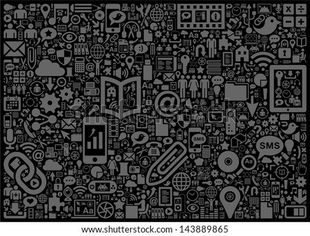 Social Media Background Stock Vector Royalty Free 143889865