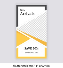 Social Media banner Template. Anyone can use This Design Easily. Promotional web banner for social media. Elegant sale and discount promo - Vector. - Vector