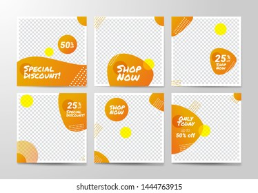 Social media Banner Template, Flash sale, Discount template