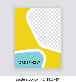 Social Media banner Template. Restaurant Concept Design. Anyone can use This Design Easily. Promotional web banner for social media. Elegant sale and discount promo - Vector.