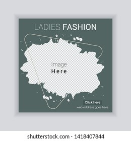 Social Media banner Template. Sale & Fashion Concept Design. Anyone can use This Design Easily. Promotional web banner for social media. Elegant sale and discount promo - Vector.