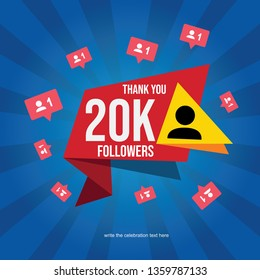 Social media banner with thank you for 30K followers - Vector