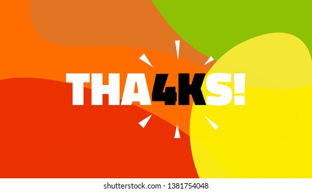 Social media banner with thanks 4K followers achievement. Thank you for 4000 thousand subscribers decoration post template. Greeting card for social networks. Vector illustration colored background