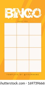 Social Media Bingo Challenge Story Template
