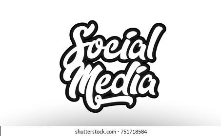 social media black beautiful graffiti text word expression typography isolated on white background suitable for a logo banner t shirt or brochure design