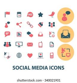social media, blog, community, user, avatar  icons, signs vector concept set for infographics, mobile, website, application