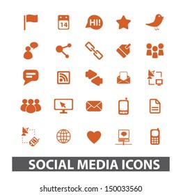 social media, blog, internet icons set. vector