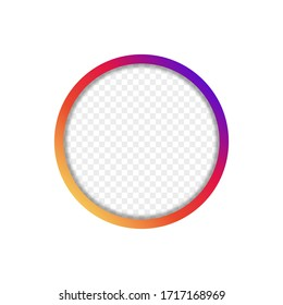 Social media circle frame for web design. Vector illustration