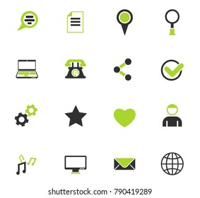social media color vector icons for web and user interface design