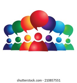 social media communication. Group chat.