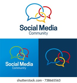 Social Media and Community Icon and Logo - Vector Illustration