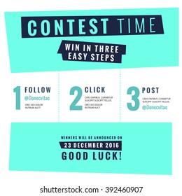 Social Media Contest Vector Template