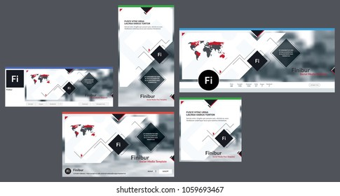 Social media cover header background template, social media post, header, with logo template. Template cover header for social media, banner,  advertising business corporate. Vector illustration.