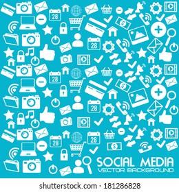social media design over blue background vector illustration