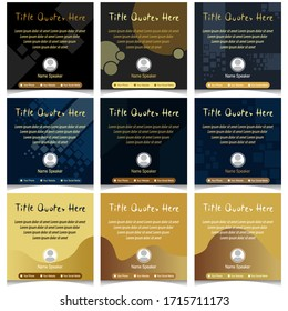 Social Media feed Quotes Banner design. Editable file in eps.10.