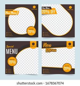 Social media food sale promotion post template