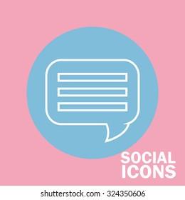 social media icons design, vector illustration eps10 graphic