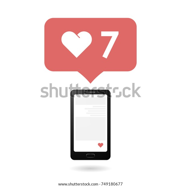Social Media Icons Smartphone Flat Design Stock Vector Royalty Free 749180677