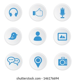 Social media icons,on white background,vector
