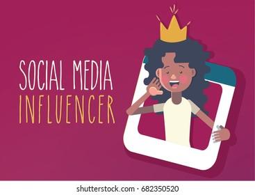 Social media influencer concept