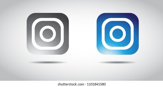 Social media Instagram icon colour gradient. Icon color. EPS 10