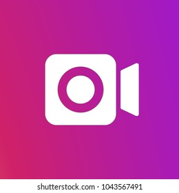 Social media Instagram video camera icon, symbol. Vector illustration. EPS 10