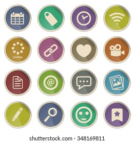 Social media label icons for web
