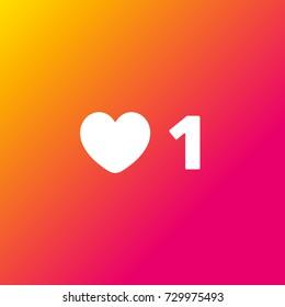 Social Media Like. Gradient background.