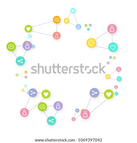 How Heavy Use Of Social Media Is Linked >> Social Media Marketing Communication Networking Concept Stock Vector
