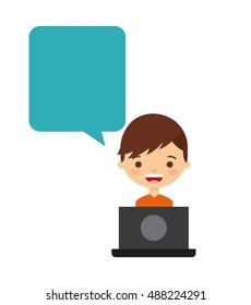 social media network icon vector illustration design