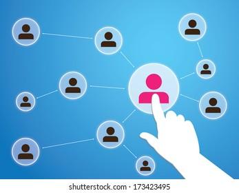 Social Media network Illustration, Vector, Icon