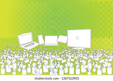 Social media networks over abstract background