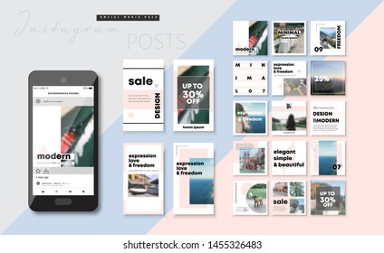 Social media pack. Business presentation template. Set of modern blog posts or Editable simple info banner, trendy book cover idea.  For app, web mail digital display style. Minimal. iq beauty cards