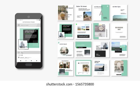 Social media pack. Business presentation template. Set of modern square blog posts Editable simple info banner, trendy book cover idea. For app, web mail digital display style. beauty cards. Minimal