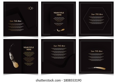 Social media pack. Business promotion template. Editable simple info banner.